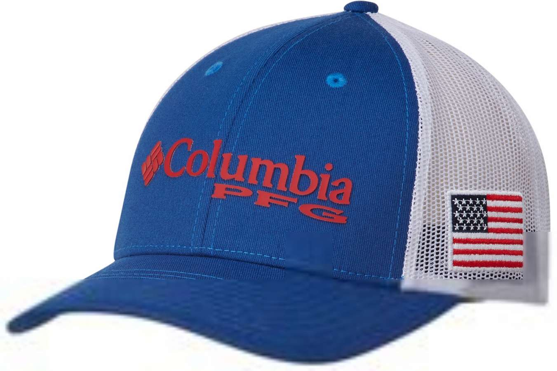 18f3387e006af Columbia PFG USA Flag Mesh Snap Back Ball Cap