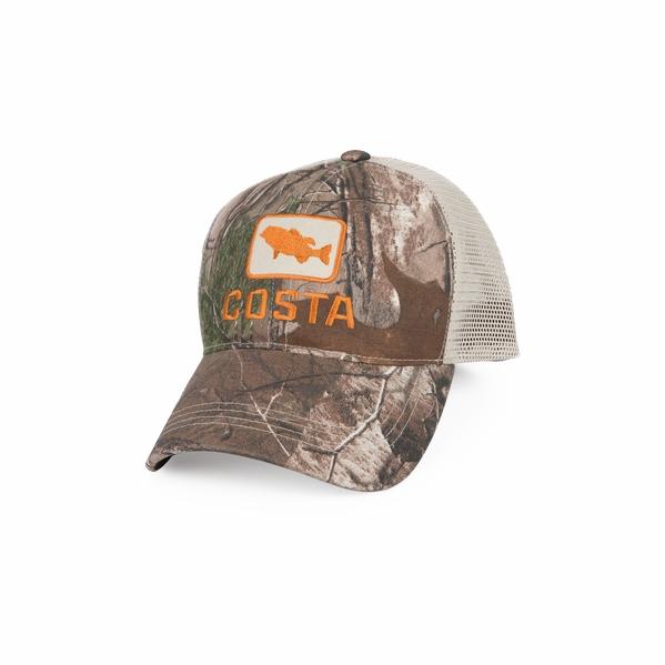 Costa Del Mar Bass Trucker X-Large Hat - Realtree Edge Camo d24922392aaa