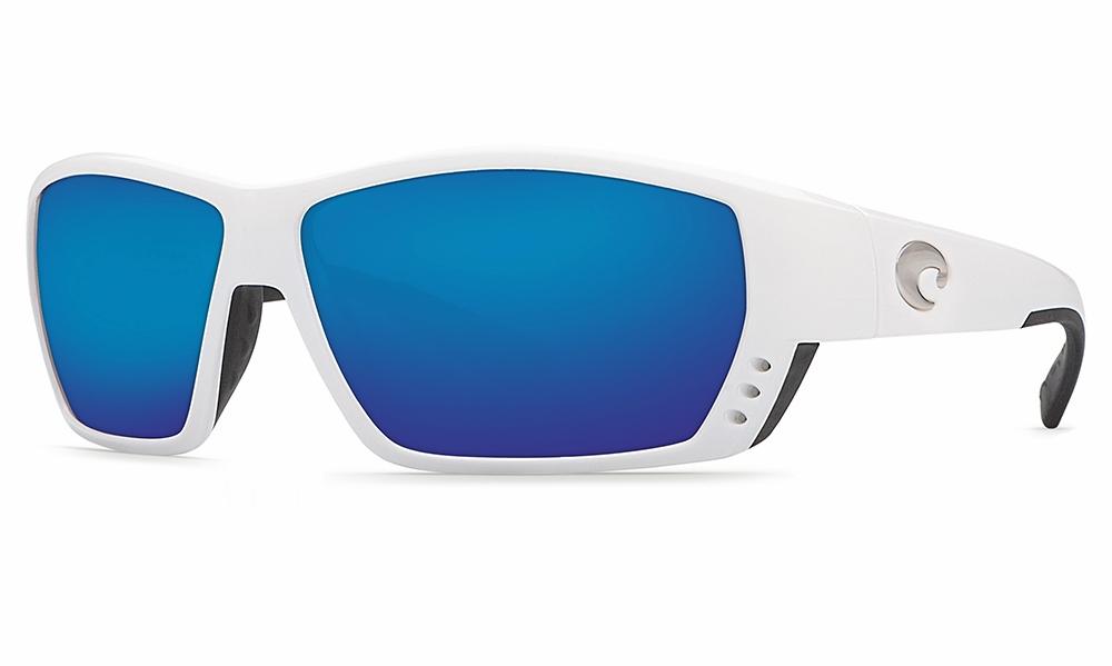 e046f22d66 Costa Tuna Alley Sunglasses White Blue Mirror 580P - TackleDirect