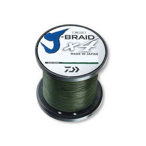 Image of Daiwa J-Braid - 3000yd Spool - 30lb - Dark Green