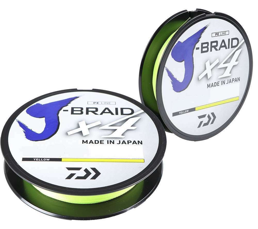 Daiwa J-Braid X4 270m braided cord Yellow Dark Green