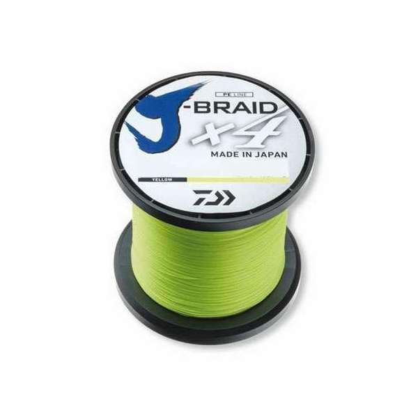 Image of Daiwa J-Braid - 3000yd Spool - 65lb - Fluoro Yellow