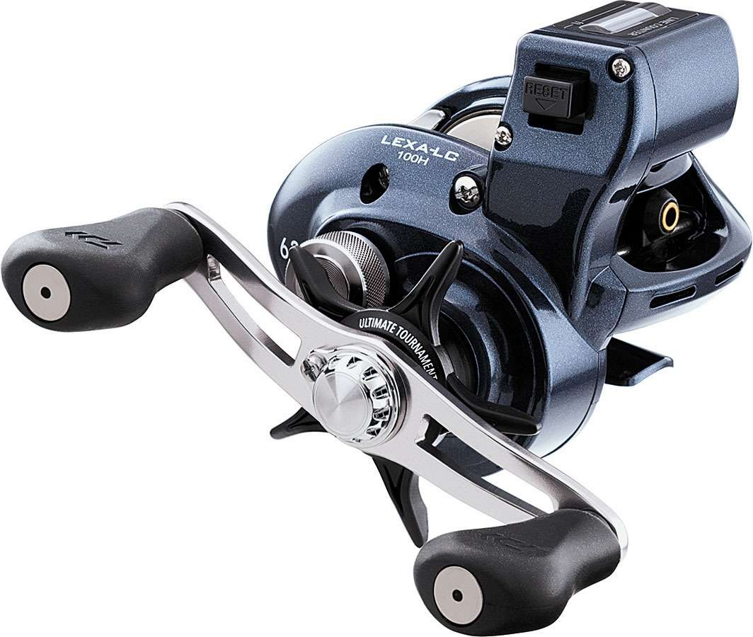 Daiwa lexa lc100h lexa line counter baitcasting reel for Baitcasting fishing reel