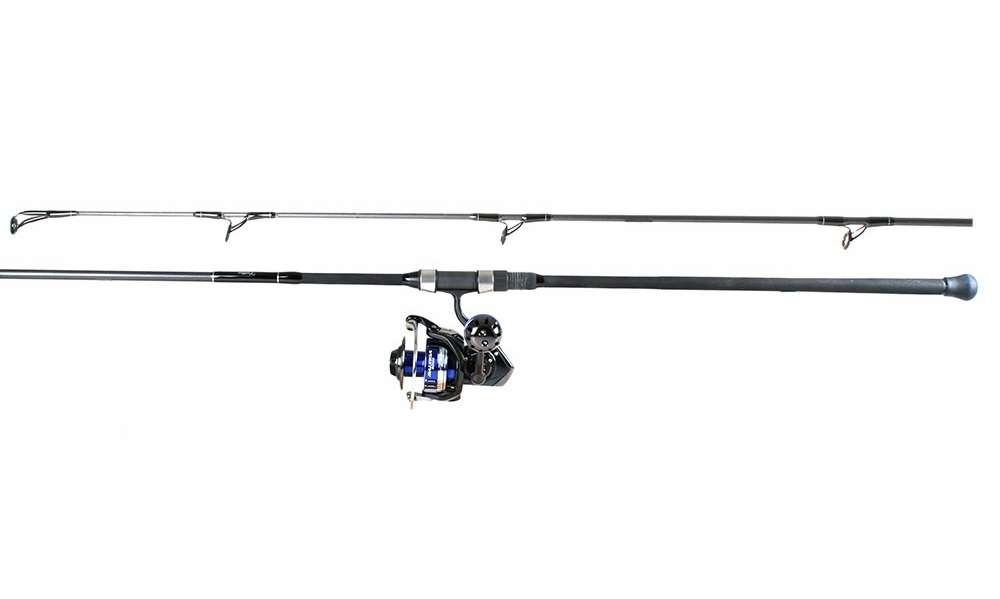 Daiwa saltiga spin reel century stealth rod combo for Shark fishing gear