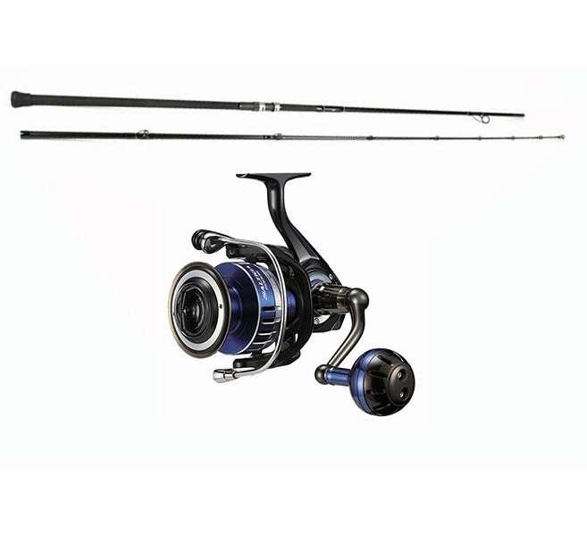 Daiwa saltiga spin reel century sling shot combo for Shark fishing rod and reel combo