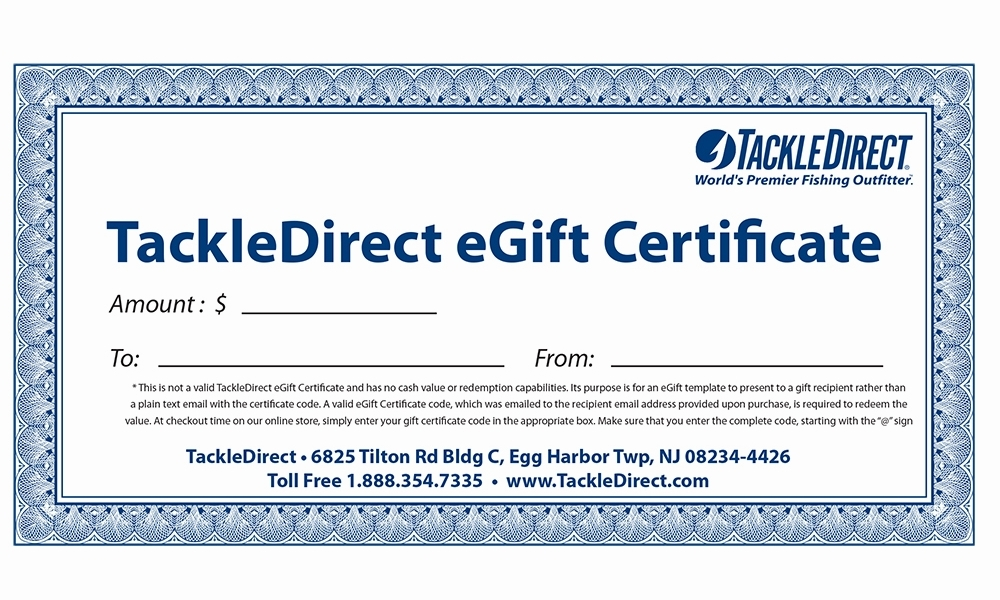 $500 eGift Certificates - Online Use Only TDA-0035-9