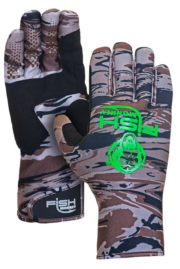 Fish monkey backcountry gloves camo 2xl for Fish monkey gloves