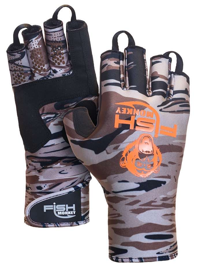 Fish monkey backcountry ii gloves camo m for Fish monkey gloves