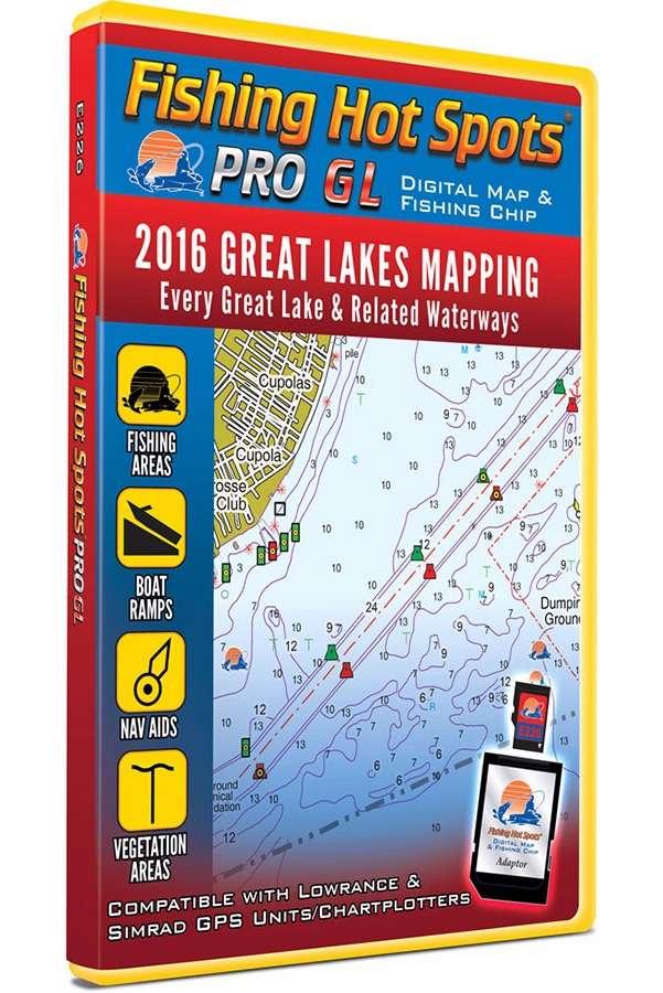 Fishing hot spots e226 pro gl digital map tackledirect for Fishing hot spots