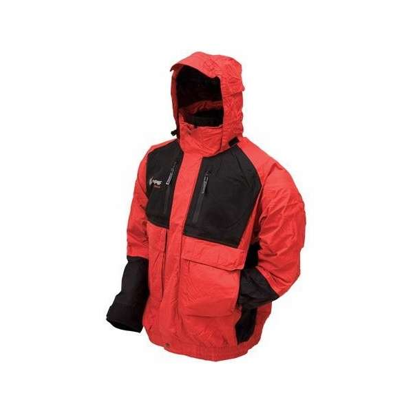 Frogg Toggs Toadz Firebelly Two-Tone Jacket Red/Black L FTG-0003-3