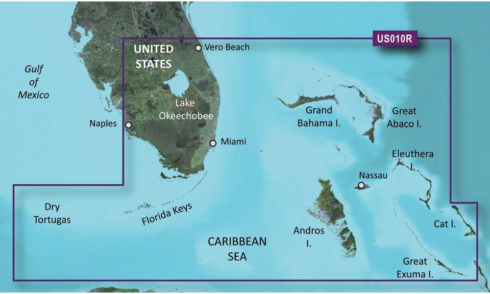 Garmin BlueChart g2 Vision Southeast Florida SD Card