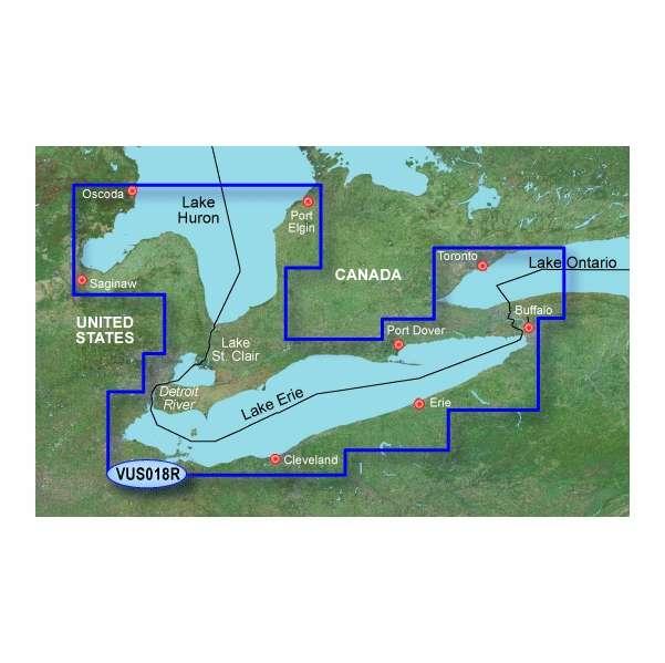 Garmin BlueChart g2 Vision Lake Erie SD
