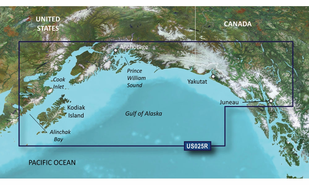 Garmin BlueChart g2 Vision Anchorage to Juneau
