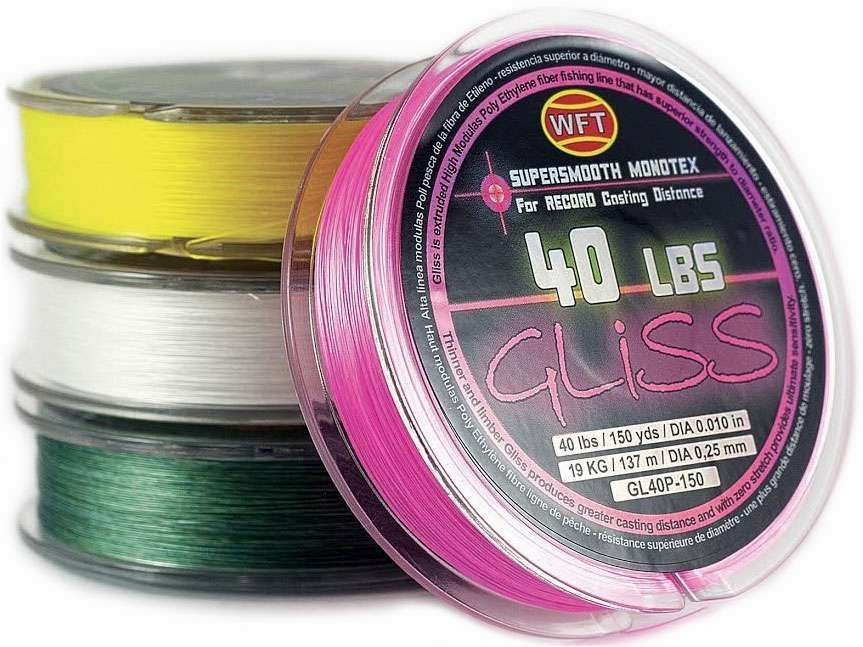 Gliss supersmooth monotex fishing line yellow 150 yd for Gliss fishing line
