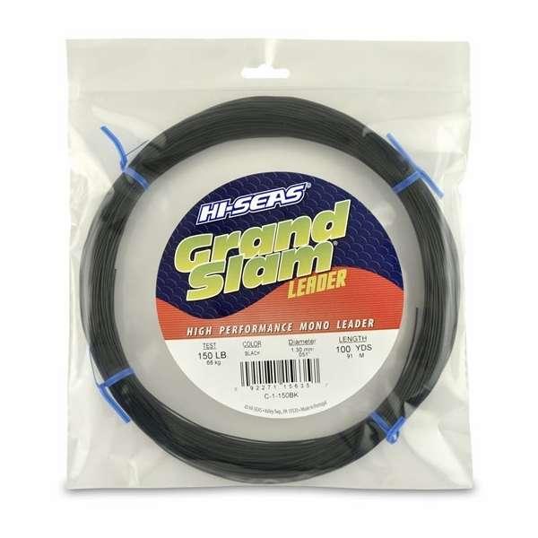 Hi seas grand slam leader 100 yd coil black for Hi seas fishing line