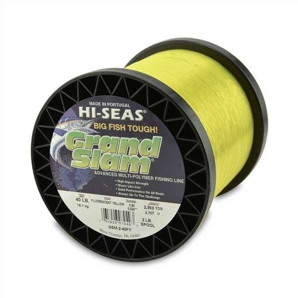 Hi seas grand slam mono 2 lb spool fluorescent yellow gsm for Hi seas fishing line