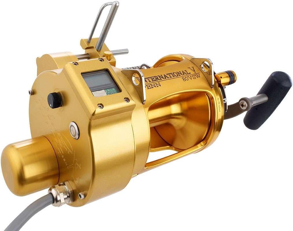 Hooker penn 80vsw electric reel w level wind counter for Electric fishing reels