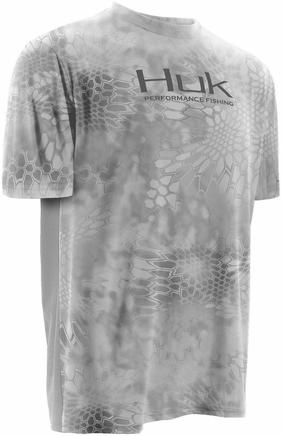 Huk Kryptek Icon Short Sleeve Shirt - Kryptek Yeti Grey - 3X-Large HUK-0251-6