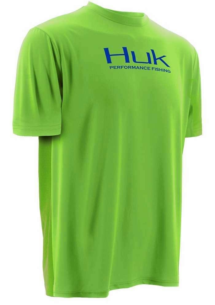 Huk Icon S/S T-Shirt - Neon Green - Medium HUK-0138-2