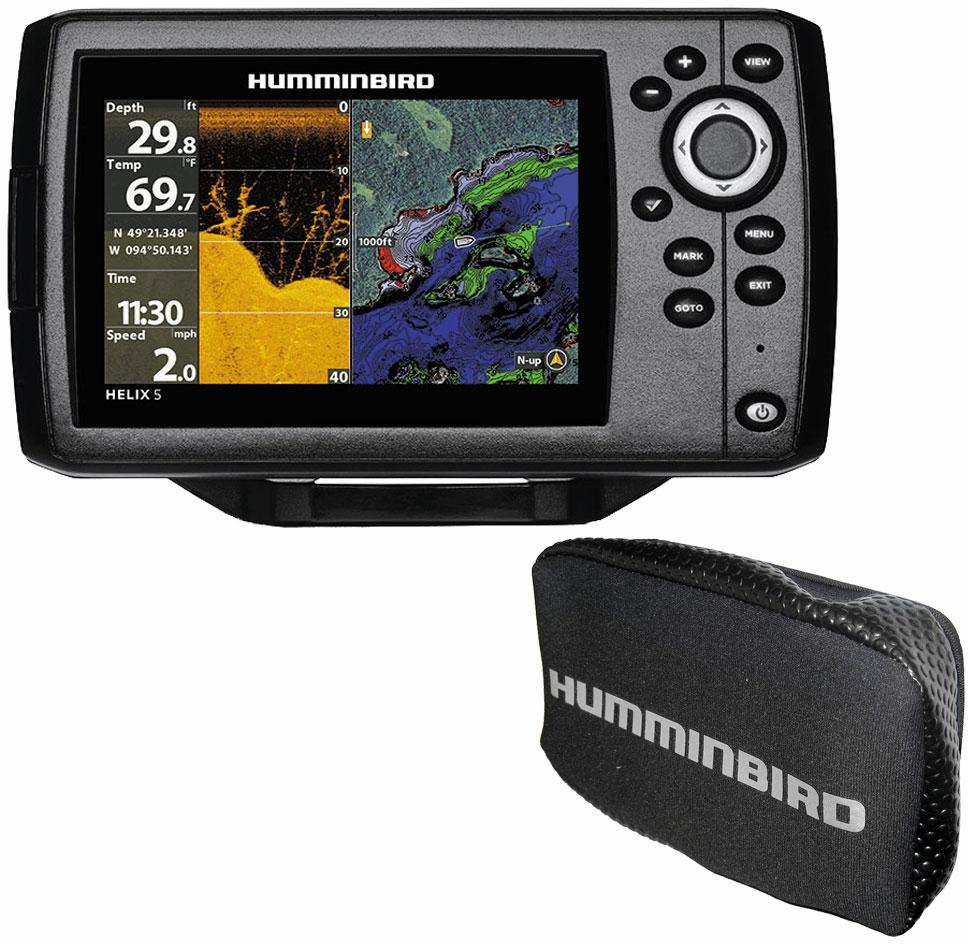 humminbird helix 5 g2 chirp di gps combo w free cover. Black Bedroom Furniture Sets. Home Design Ideas