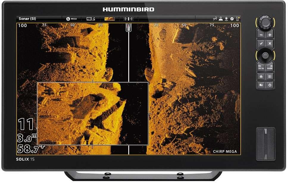 Humminbird 410420-1 SOLIX 15 CHIRP MEGA SI GPS Combo