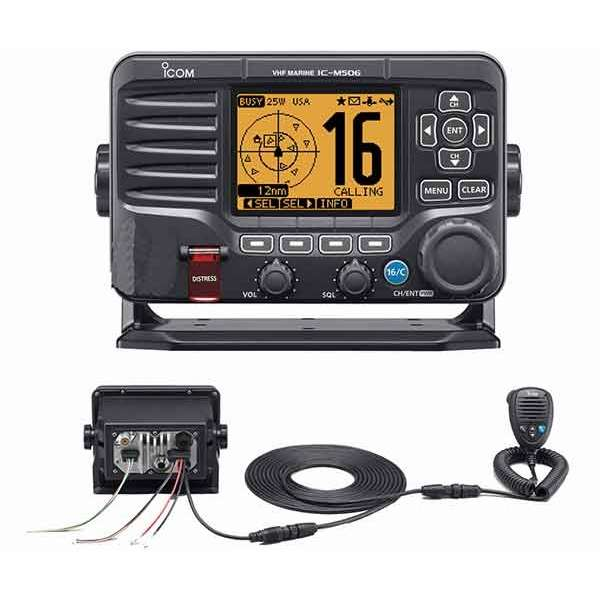 Icom M506 VHF Fixed Mount w/Rear Mic,