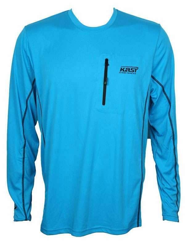 Kast Gear Kayman Tech Top w/ TackleDirect Logo - Ocean Blue - Large KAS-0024-3
