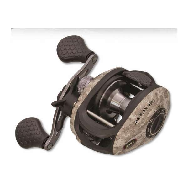 Lew 39 s american hero camo speed spool baitcast reels for Lews fishing apparel