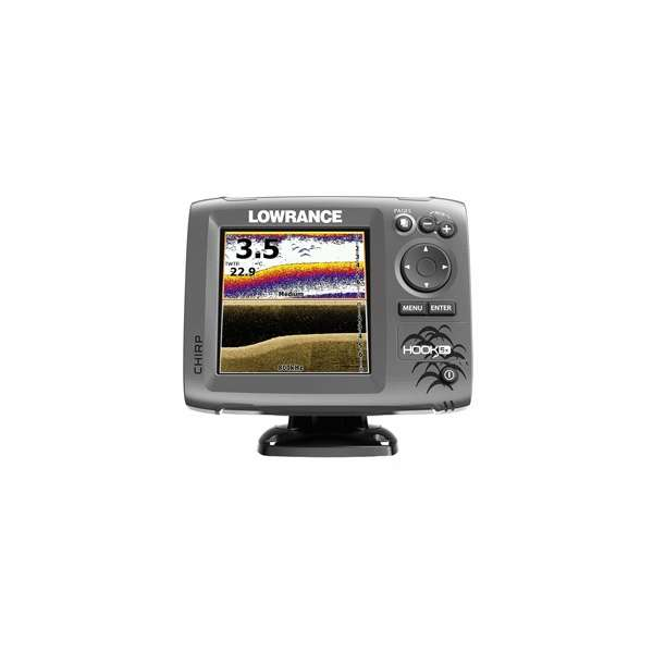 lowrance 000 12653 001 hook 5x fishfinder w hdi transducer lowrance fishfinders & chartplotters  at virtualis.co