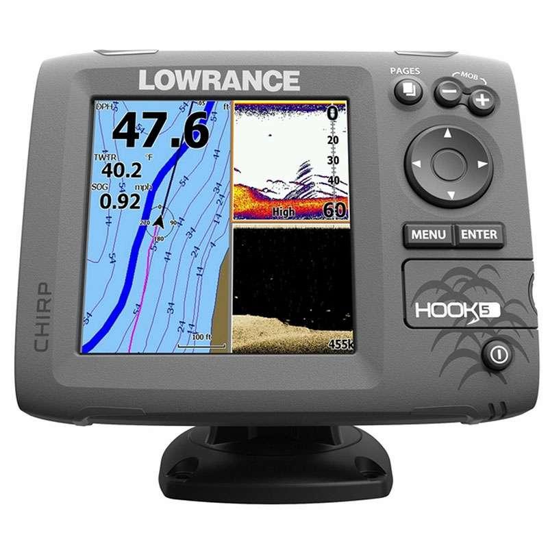 HOOK-5 Combo w/ HDI Transom Mount Transducer - Lowrance 000-12656-001