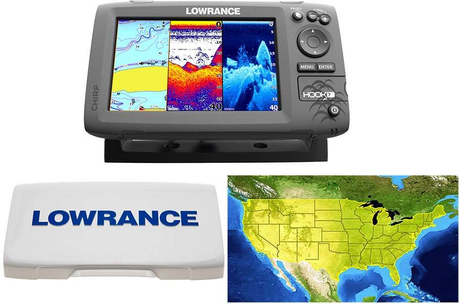 Lowrance 000 12664 002 hook 7 combo tackledirect for Lowrance hook 7 trolling motor mount