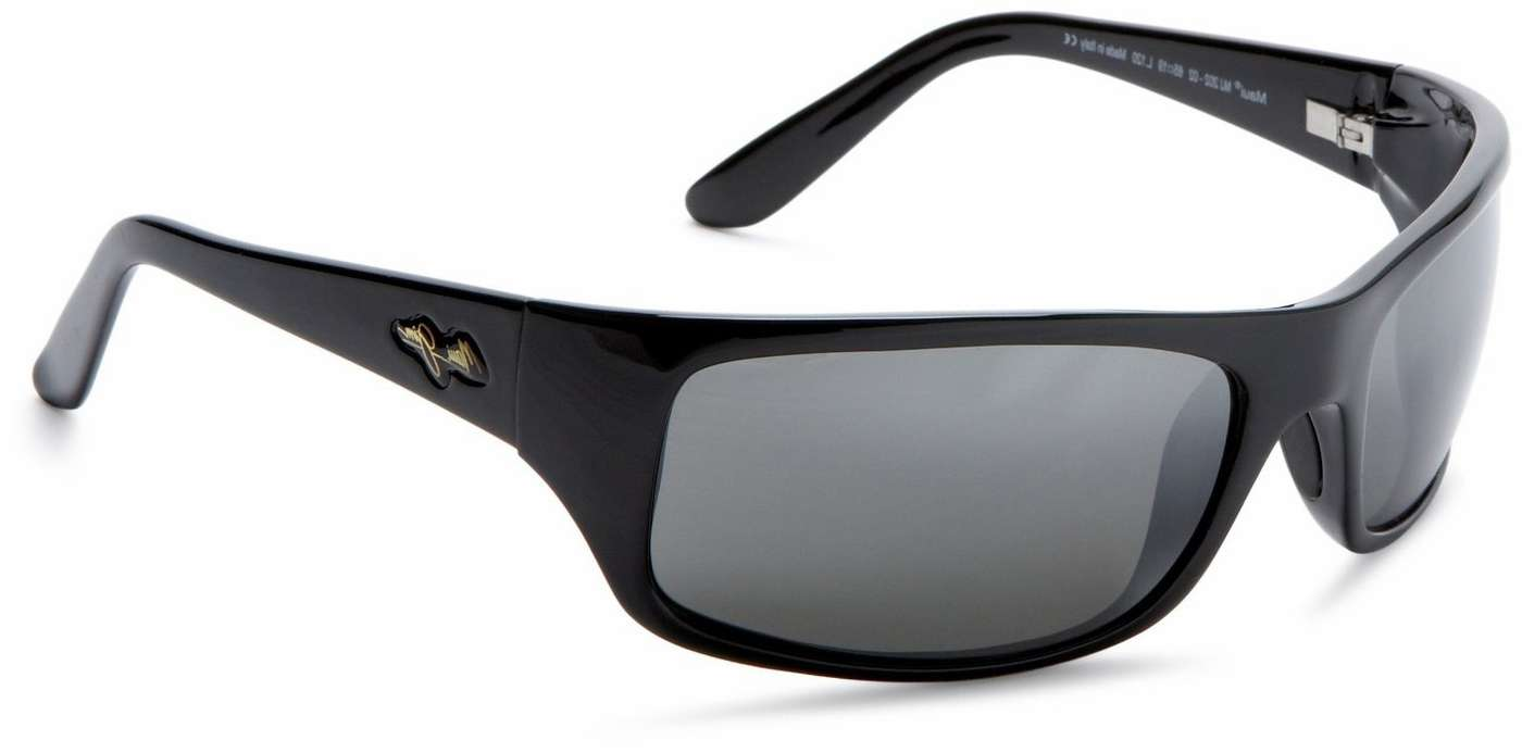 3d544c975 Maui Jim 202-02 Peahi Gloss Black Sunglasses | TackleDirect
