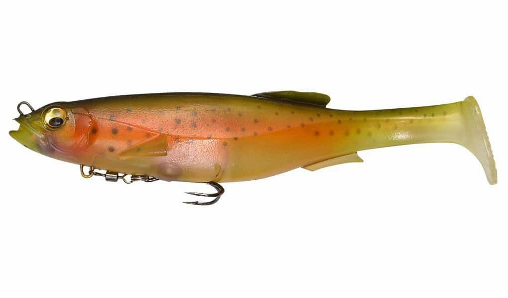 Megabass Magdraft Swimbait Lure - 6in Nude Rainbow MBL-0116-6