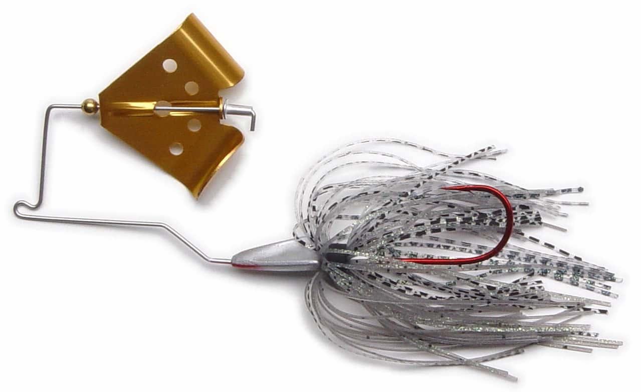Megastrike Cavitron Buzzbait Fishing Lure Fire Tiger Skirt Gold Blade 1//8
