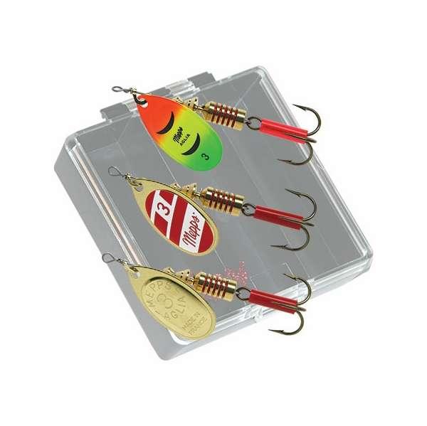 Mepps bass pocket pac lure kit kb b tackledirect for Pocket fishing kit