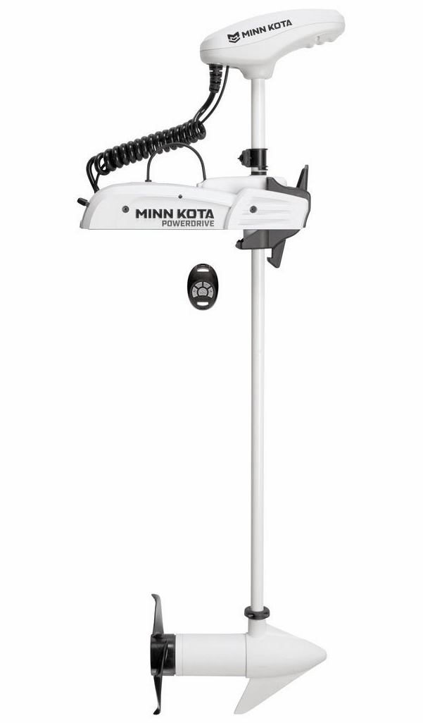 "Image of Minn Kota Riptide Powerdrive 55 Trolling Motor, 54"" Shaft Length, 55 lbs Thrust, 12V with Copilot & Bluetooth"
