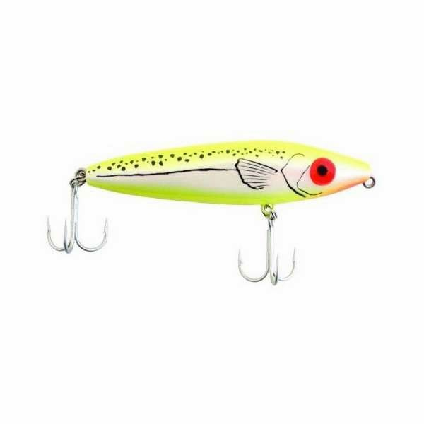 MirrOLure 83MR She Dog Surface Walker Lure Chartreuse/Pearl/Chartreuse MIR-0055-1