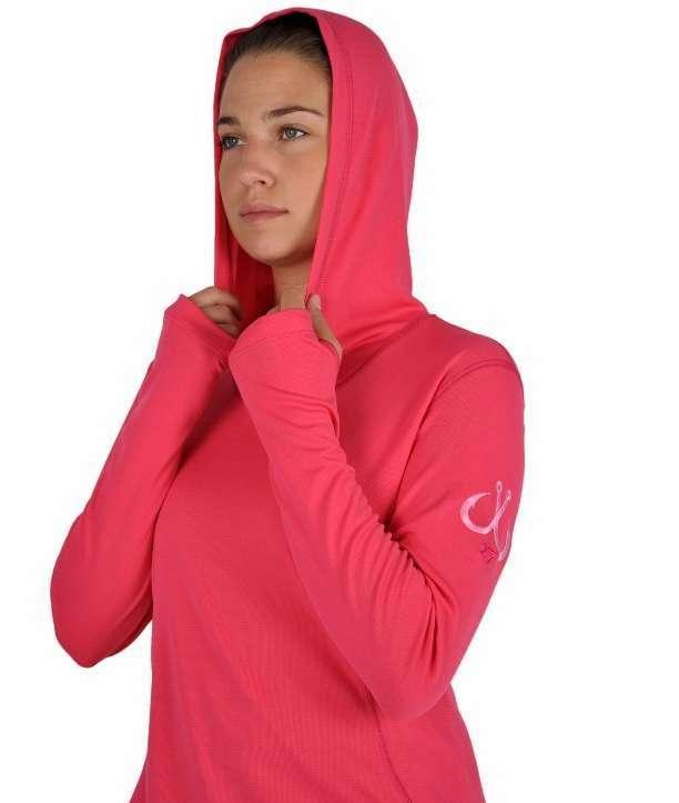Montauk Women's Performance Hoodie Pink - Size Large MON-0099-3