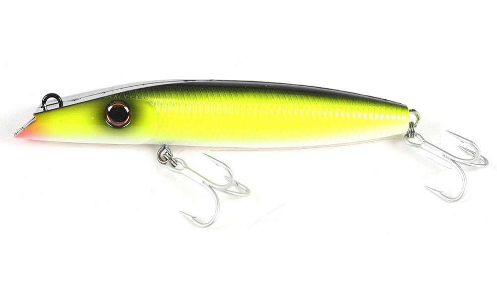 Northbar 1302 Montauk Darter Lure Chartreuse Black Back
