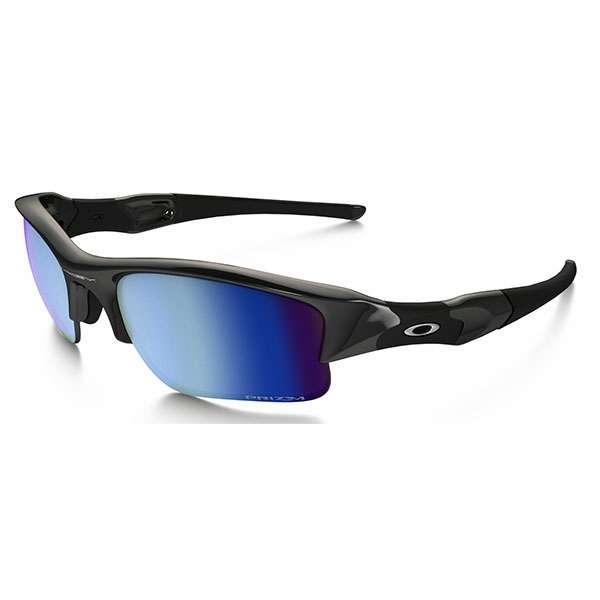 fa0f256fcb Oakley Flak Jacket XLJ Sunglasses Polished Black Prizm Salt Water Polarized  OO9009-11