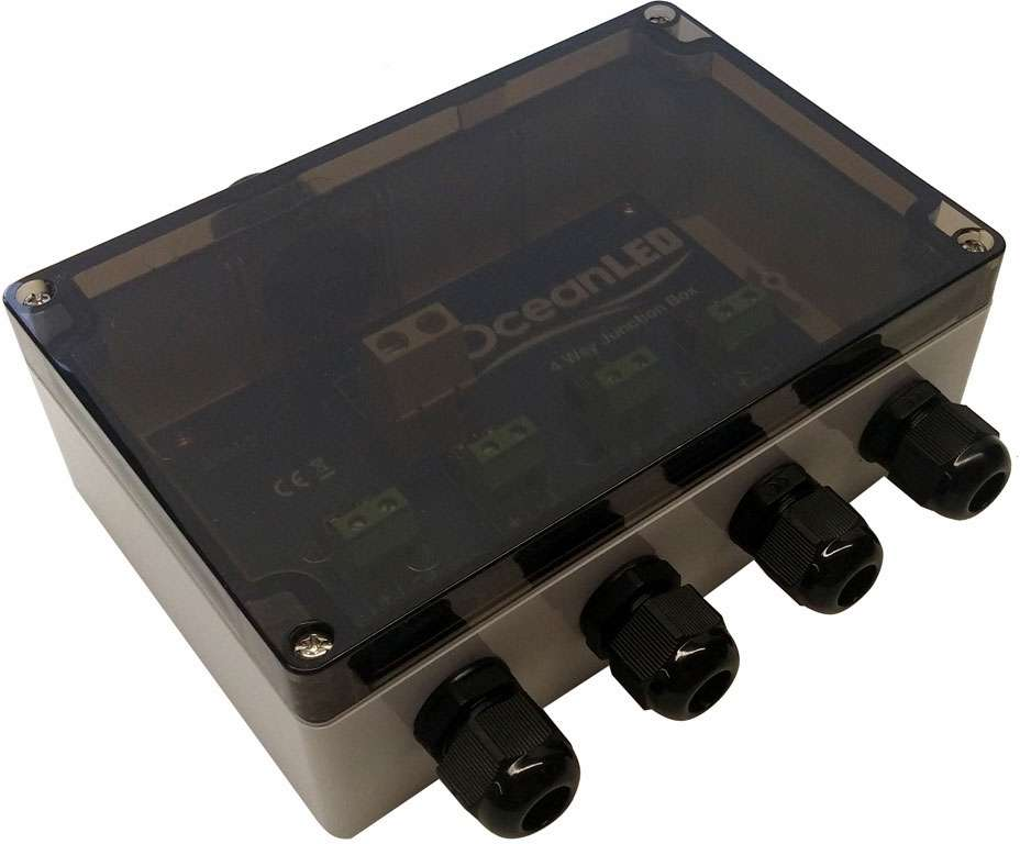 oceanled standard 4 way junction box tackledirect rh tackledirect com fused trailer junction box fused junction block