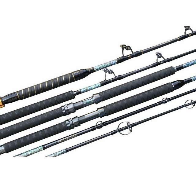 Okuma makaira roller guide trolling rods tackledirect for Fishing rod roller guides