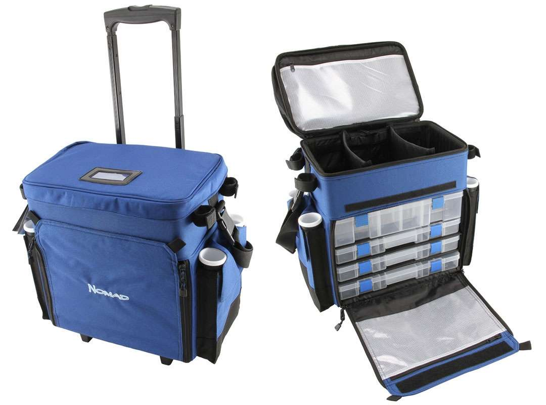 Okuma nomad rolling deck bag tackledirect for Best fishing tackle box