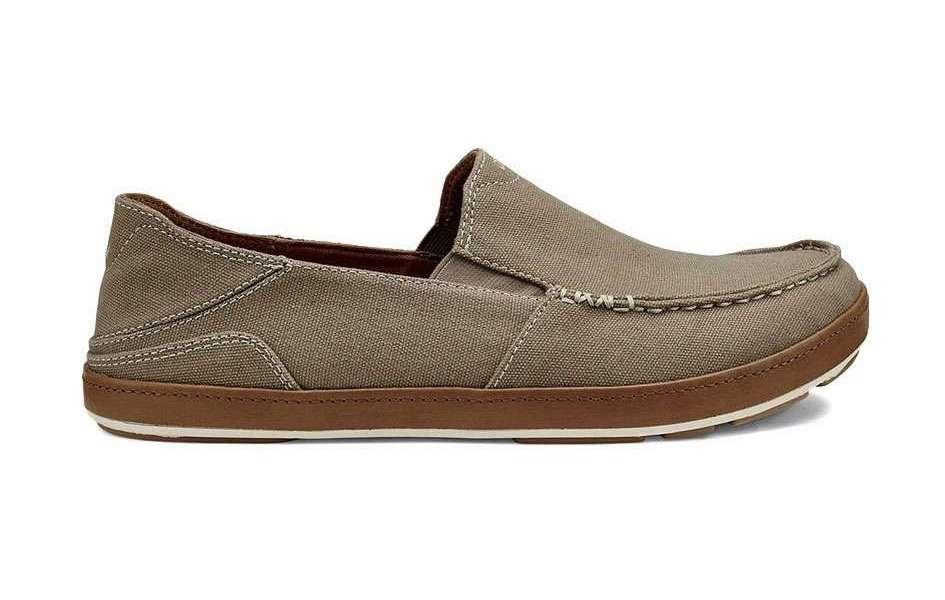 OluKai Puhalu Canvas Men's Shoe - Clay
