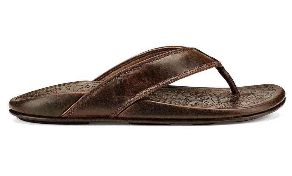 OluKai Waimea Men's Sandal - Dark Wood/Dark Wood - Size 10