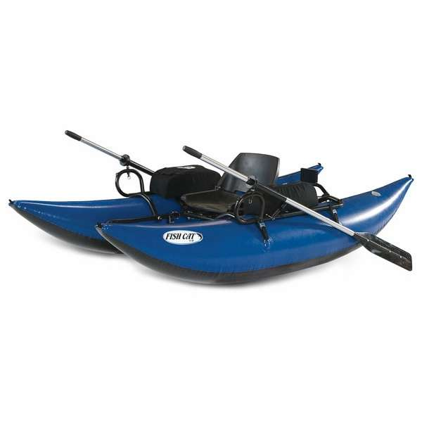Outcast fish cat 9 inflatable pontoon boat tackledirect for Inflatable fishing boats