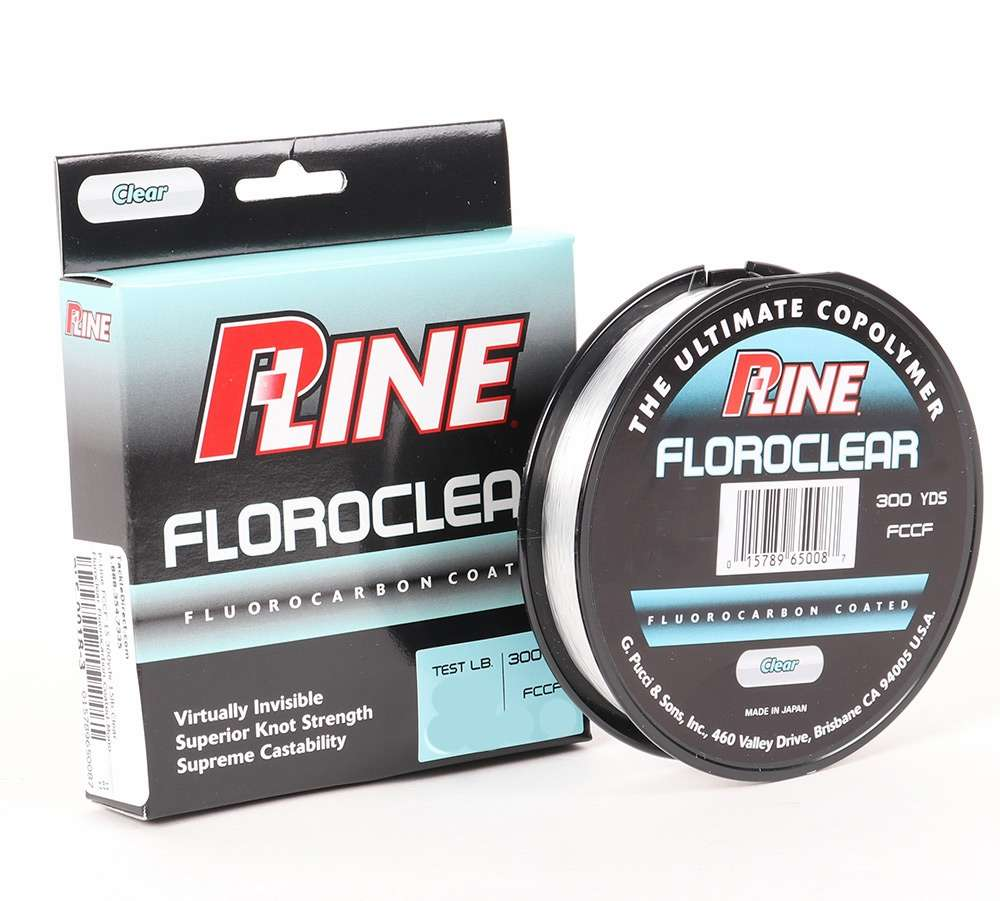 P-Line Floroclear Clear Fishing Line 600 Yards Select Lb Test