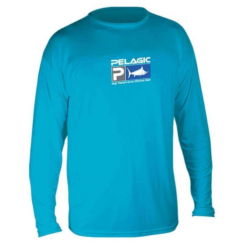 Pelagic AquaTek Long Sleeve Sunshirt - Aqua - Medium PEL-0315-2