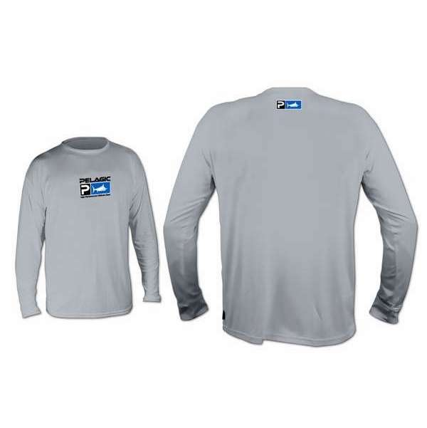 Pelagic AquaTek Long Sleeve Shirt Grey - XX-Large PEL-0024-4