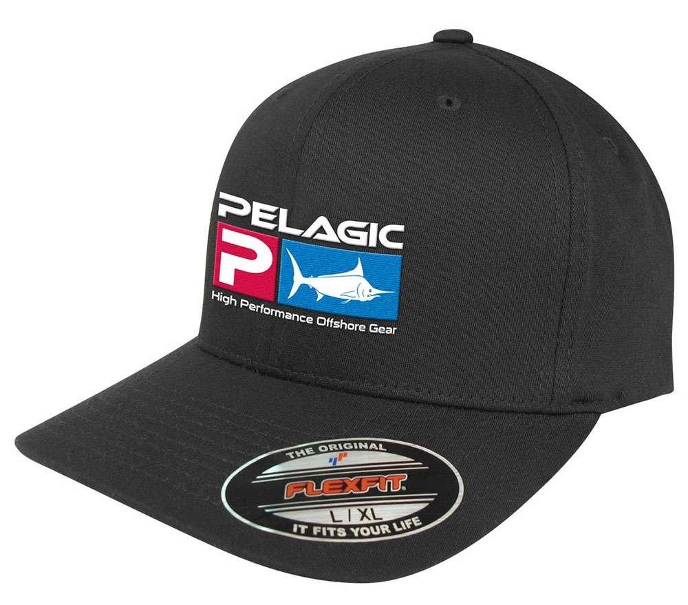 Pelagic Deluxe Logo Flexfit Hat - Black PELAGIC-DELUXE-LOGO-FLEXFIT-HAT-BLACK